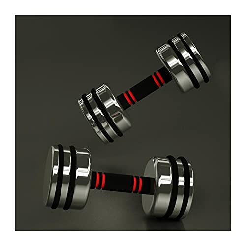 SFF Pesas Mancuernas de Acero Puro de Peso Pesado, Barras con Asas de Espuma para Entrenamiento de Fuerza, Equipo de Ejercicio para el hogar (par) Aptitud Física (tamaño : 10kg(5kgx2))