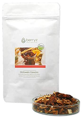 Glühweingewürz Premium Qualität | Sternanis Ceylon Zimt Nelken Orangenschalen und Pomeranzenschalen | Ideal für Gluehwein alkoholfrei Glögg Glühpunsch Kinderpunsch Feuerzangenbowle & Punsch