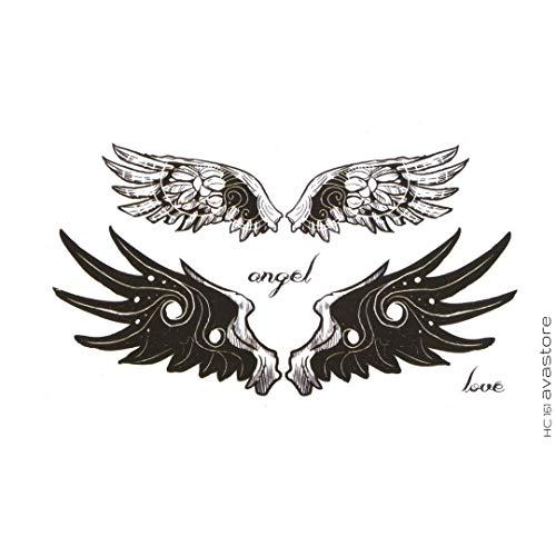 Temporäre Tattoos - Tattoo Flügel Engel