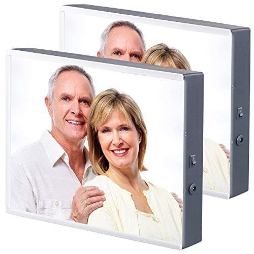 infactory Bilderrahmen Foto: 2er-Set LED-Leuchtkasten für individuelle Bilder auf Folie und Papier (Beleuchteter Bilderrahmen)