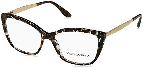 Dolce & Gabbana Dolce & Gabanna DG3280 911 54 Cube Black/gold Woman Cat Eye Eyeglasses - Black, Gold, Black, 54/15/140
