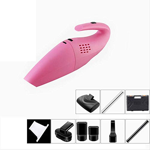 Aspirapolvere Silenzioso Portable Handheld Cordless aspirapolvere, 4000Pa Potente ciclonico aspirazione Aspirapolvere, Quick Charge Tech, Adatto for casa e Auto Pulitore di Tappeto (Color : Pink)