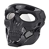 Skull Paintball Mask Full Face Tactical Airsoft Mask...