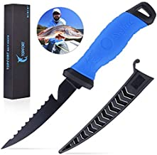 Outdoors Fillet Knife,Bait Knife,Sharp Stainless Steel Blade Fishing Knife with proctive knife sheath…
