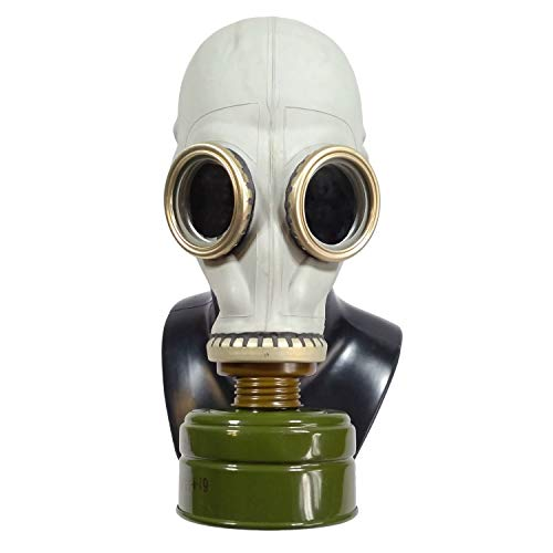Russian Gas Mask GP-5 - Post-Apocalyptic Cosplay Costume USSR Soviet Times Movie Making (M) Gray