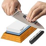Premium Knife Sharpening Stone - Dual 1000/6000 Grit Japanese Whetstone - Best Sharpener...