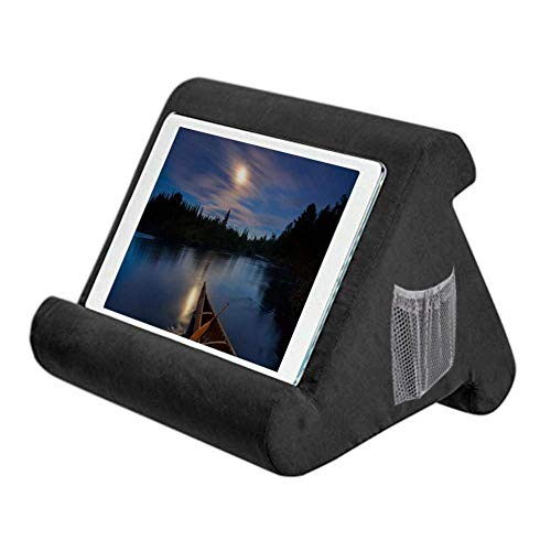 YYW Pad Tablet Stand Pillow Holder, Notebook Tablet Cushion Stand, Multi-Angle Soft Lap Stand for Lap, Bed, Desk, Car, Books, Magazines