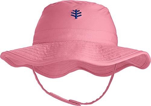Coolibar UPF 50+ Baby Splashy Bucket Hat - Sun Protective (2-3T- Seashell)