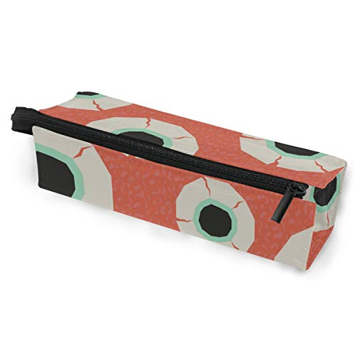 Pen Holder/Stationery Cosmetic Makeup Bag Pouch Round Case Eyeball Human Organ Creative Design Art Minimalist Print Polyester Zipper Pencil Bag Multi-Function Glasses Storage Bag