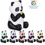 Navaris LED Nachtlicht Panda Design - Süße RGB Farbwechsel Nachttischlampe für Kinder - Kinderzimmer Nachtlampe - Schlummerlicht Lampe