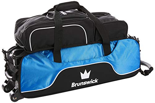 Brunswick Crown Triple Tote mit Schuh Tasche Bowling Bag, Royal