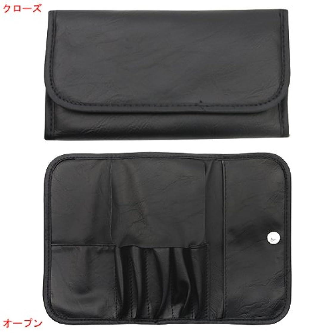 シャーク佐賀通知志々田 メイクブラシケース No.115 BK ブラック 縦:約18×横:約10cm