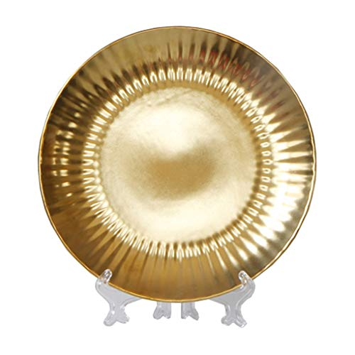 FLAMEER Golden Ceramic Dish Dessert Plates Tray Container Decorative Wedding Party