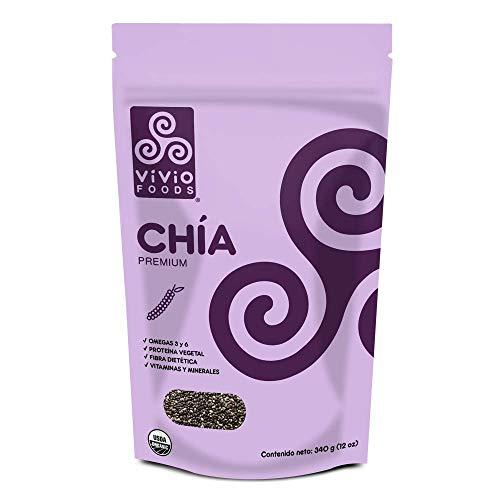 Vivio Foods, Chía Orgánica Premium, 340 gramos