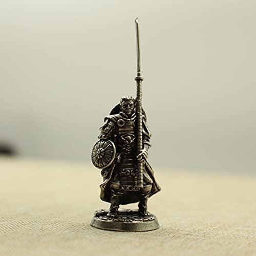 jiuyin Jewelry Weiß Kupfer japanische Shogunat Samurai Figuren Miniaturen Vintage Metall Soldaten Modell Statue Desktop Spielzeug Ornament Dekoration