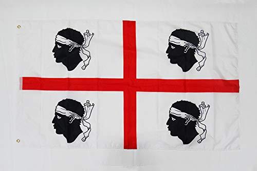 AZ FLAG Flagge SARDINIEN 150x90cm - SARDINIEN Fahne 90 x 150 cm feiner Polyester - flaggen