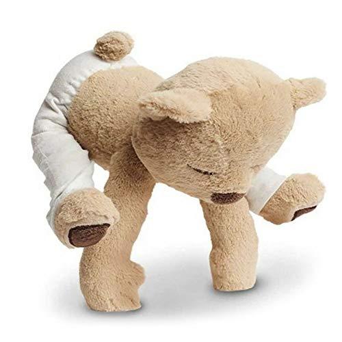 Moonvvin Süßer Teddybär-Plüsch-Puppe, flexibel, anpassbar, Gong Fu Pose Stofftier Spielzeug für Kinder, Freunde Geschenke