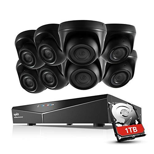 SANNCE TVI 1080P 8CH DVR Enregistreur Système de Surveillance avec HDD 1TB et 8 Caméras de...