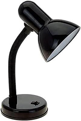 SHUILV Lampe de table de chevet, LED Lampe de table Designs Simple Designs Basic Flexible Flexes Bureau Lampe de bureau, Lampe d'apprentissage Noir Base ronde avec bouton de commutateur Study Study Br