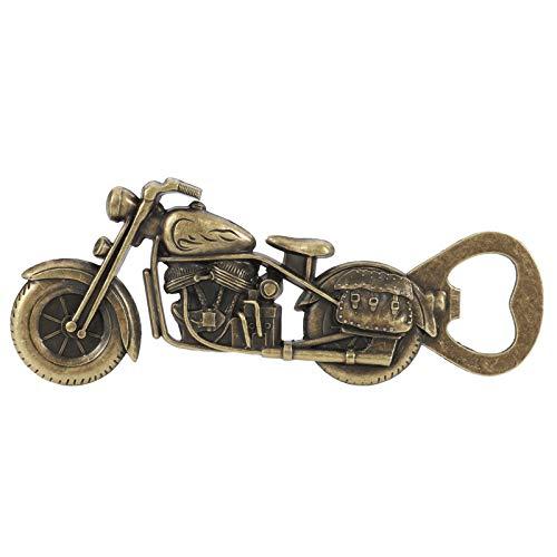 Popuppe Motorrad Flaschenöffner,Vintage Motorrad Bier Flaschenöffner, Metall Motorrad Flaschenöffner für Bar Party Trinkspiel, einzigartiges Geschenke für Männer (Gelb)