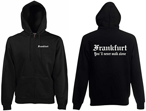 world-of-shirt Herren Kapuzenjacke Frankfurt Ultras