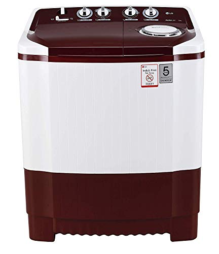 LG 7 kg Semi-Automatic Top Loading Washing Machine (P7010RRAA,...