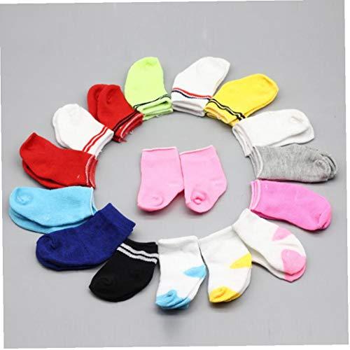 Zonster 5pair Mini-Socken-Fit 43cm Baby-18-Zoll-Puppenkleidung ZubehöR FüR Puppen Baby ZufäLlige Farbe