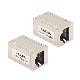 VCE Coupleur RJ45 Blindé Cat6A Inline Adaptateur Ethernet Câble Connecteur Lot de 2