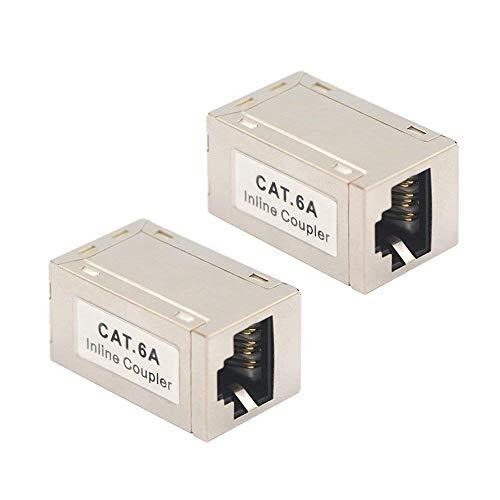 VCE 2 Unidades Empalme LAN RJ45 CAT7 CAT6A Hembra a Hembra para Cable de Ethernet Acoplador LAN RJ45 Blindado