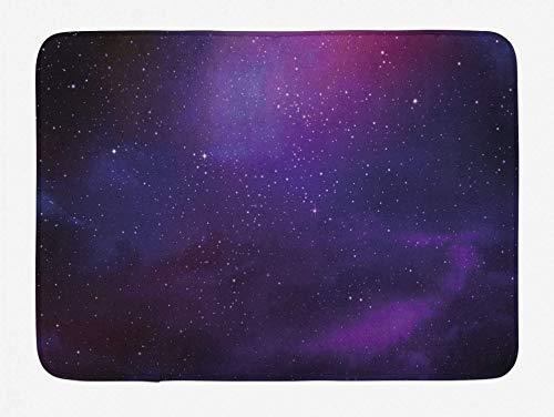Romance-and-Beauty Sky Badematte Galaxy Nebula Deep Space Sternhaufen und Sternbild Milchstraße Plüsch Badezimmer Dekor Matte mit Rutschfester Rückseite 23,6