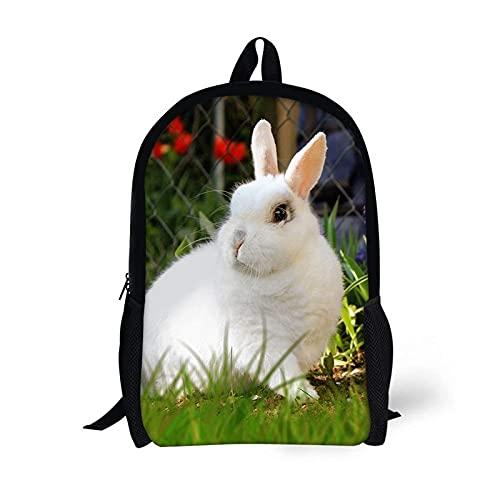 ZHANGWENJIE Customzied Cute Rabbit Zaino Kid Girls School Bags Zaino per bambini per adolescenti Borse quotidiane per bambini Zaini regalo Custom Made 44 * 28 * 13 cm 2
