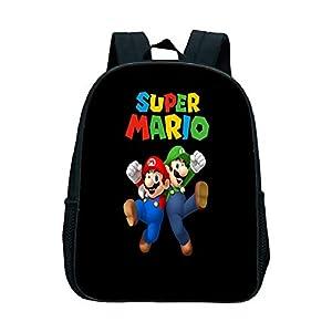 FENGHU Super Mario Mochila Mochila Escolar de Super Mario Bros para niños, Mochila para niños pequeños, Mochila para…