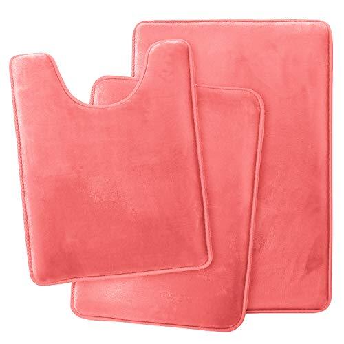 Peach Colored Bathroom Rugs