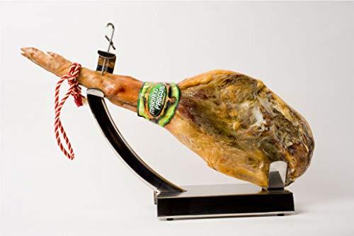 7,5 kg Serrano Hinterkeule spanischer Schinken Serranoschinken mit einem delikaten Geschmack und einem angenehmen Aroma I inkl. Holzbrett & Messer