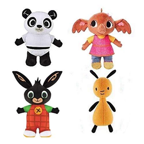ZHANGZJ Almohada Peluche Juguetes 4 unids/Lote Rabbit Panda Relleno Animal Peluche Muñeca Suave Toyschristmas Regalo (Color : Red)
