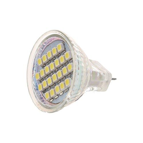 Nirmon 1.5W AC12V MR11 GU4 72-96LM LED Bulbo 24 LED 3528 1210 SMD Blanca Lampara