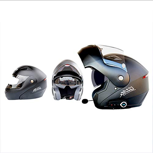 GWJ Cascos De Moto Modulares Bluetooth + FM Dot Flip Touring Cascos...