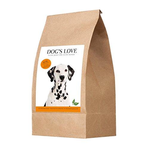 Hundetrockenfutter getreidefrei hoher Fleischanteil für Erwachsene Hunde Aller Rassen wie Schäferhunde, Labrador, Golden Retriever, Boxer, Huskys & Jagdhunde - Naturkost – Pute Adult (1 x 12kg)