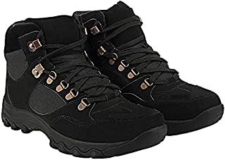 Unistar Antiskid High Ankel Beast Collection- Oil Stain & Water Resistant- Extra Cushion InnerSole -Light Weight Trekking Shoes/Riding Shoes- Odur Free and Sweat Absorption with Dust Proof Bag