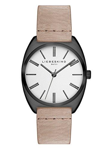 LIEBESKIND BERLIN Damen-Armbanduhr Vegetable Analog Quarz Leder LT-0033-LQ, schwarz/braun