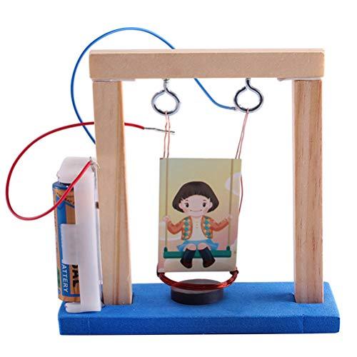 Pädagogisches Spielzeug, DIY Elektrische Schaukel Lernspielzeug Labor Experiment Lernspielzeug Physik Unterricht Spielzeug für Kinder Generator