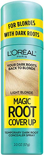 L'Oreal Paris Magic Root Cover Up Hair Color Magic Root Cover Up Concealer Spray For Blondes with Dark Roots, Ammonia and Peroxide Free, Light Blonde, 2 fl. oz.
