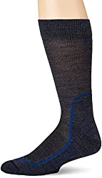 Icebreaker Merino Men's Hike+ Light Crew , Fathom Heather/Midnight Navy/Cadet, Small
