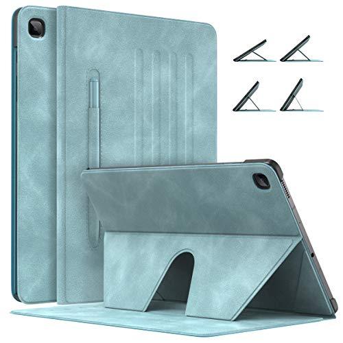 MoKo Magnetische Hülle Kompatibel mit Galaxy Tab S6 Lite 10.4 2020 SM-P610/P615 Tablet, rutschfeste Schutzhülle mit Auto Schlaf/Wach Funktion, Ultra Dünn Ständer Case mit Stifthalter - Wolkenblau