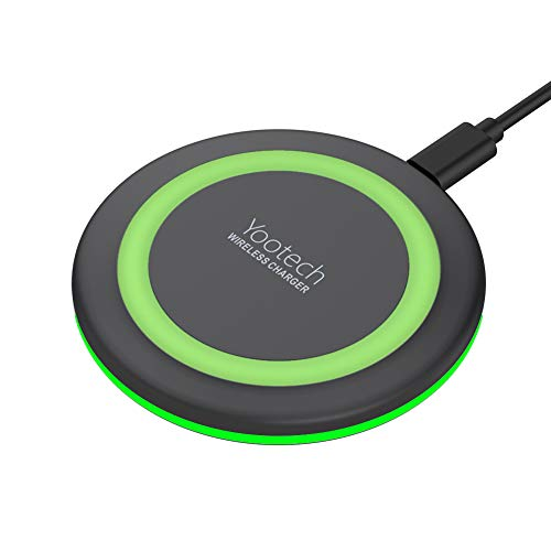 Yootech Wireless Charger Qi-Certified 10W Fast Wireless Charging Pad, 7.5W Compatible with iPhone 11/11 Pro/11 Pro Max/XS MAX/XR/XS/X/8, Galaxy Note 10/Note 10 Plus/S10/S10 Plus/S10E(No AC Adapter)