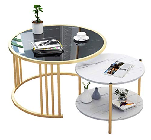 the Creative Round Table Nordic Small Coffee Table Modern Home Living Room Sofa Round Table Bedside Multifunctional Removable Table