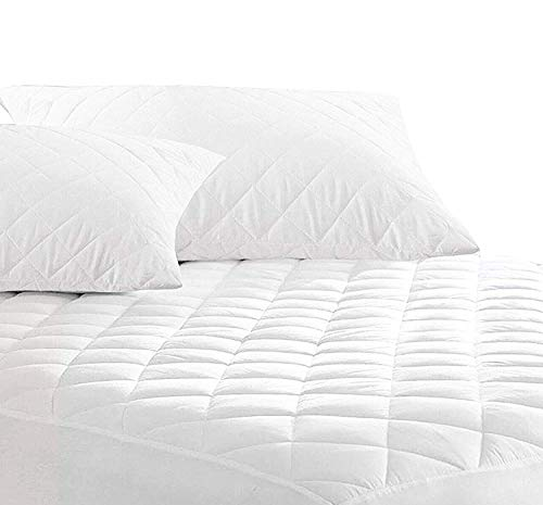 PORTER AND LAMBERT Quilted Mattress Protector - 30cm Deep Fitted Cover | Easy Care | Non Allergenic & Anti Dustmite Bedding Look (Bunk Bed)