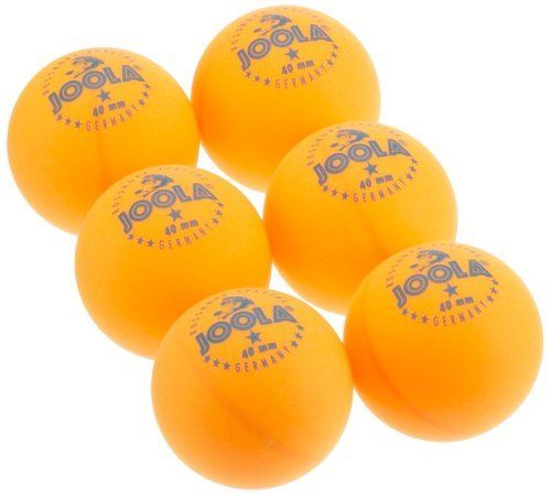 Joola Tischtennisbälle Rossi 6er Blister Pack Selektierte 40+mm Durchmesser Premium Tischtennis-Trainings-Bälle Indoor, orange, one size