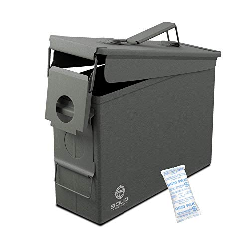 Solid Tactical 30 Cal Metal Ammo Can - Military & Army M2A1...