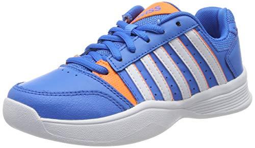 K-Swiss Performance Jungen Court Smash Carpet Tennisschuhe, Blau (Brilliant Blue/White/Neon Oran 426-M), 38 EU